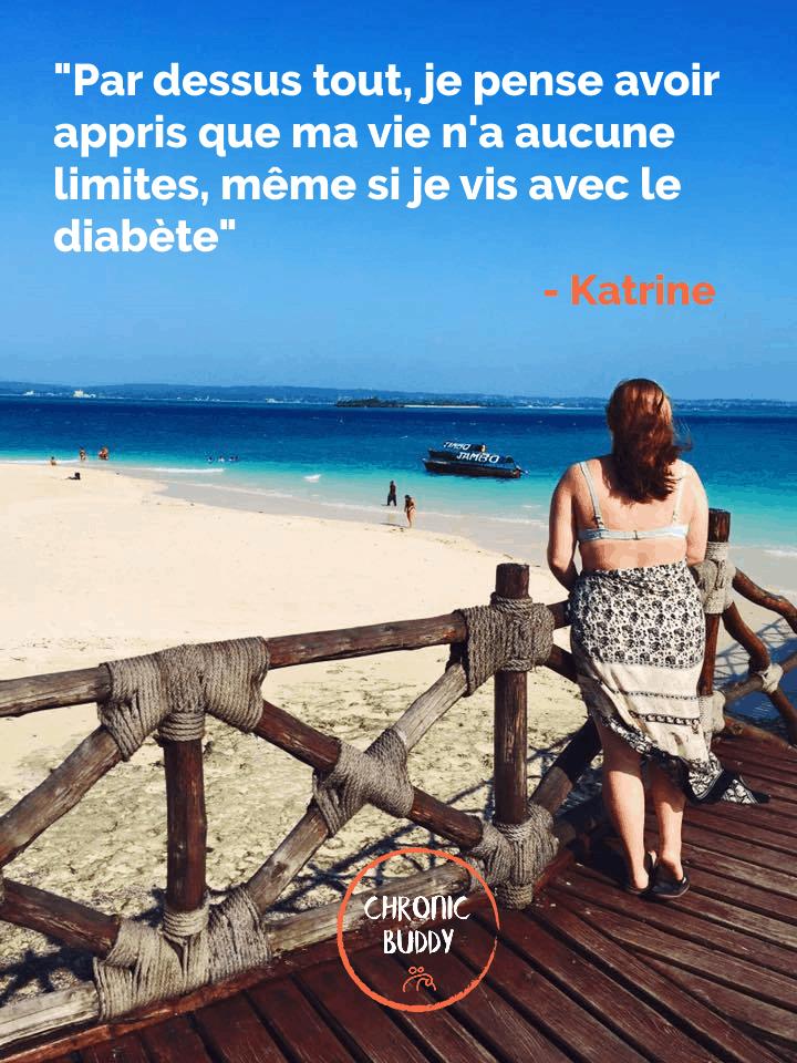 Katrine, face à la une plage paradisiaque en Tanzanie